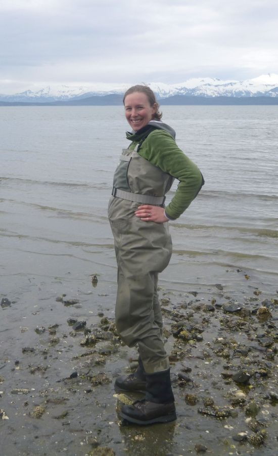 Pregnant in waders_photo by Emily Whitney