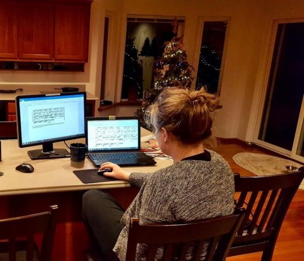 Rhea Hard at Work